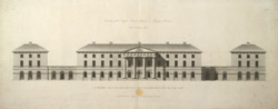 Elevation of the Royal Military Asylum, at Chelsea, Middlesex